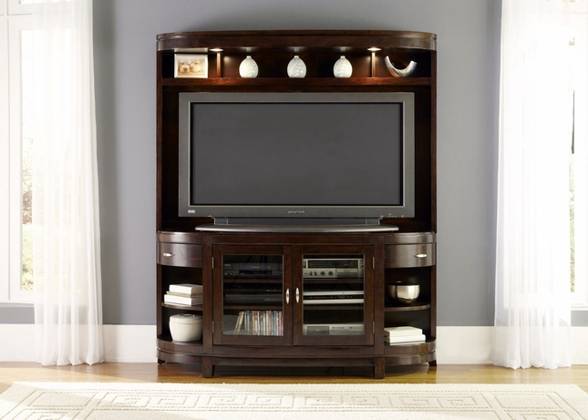 Avalon Bow Front Contemporary Entertainment Center