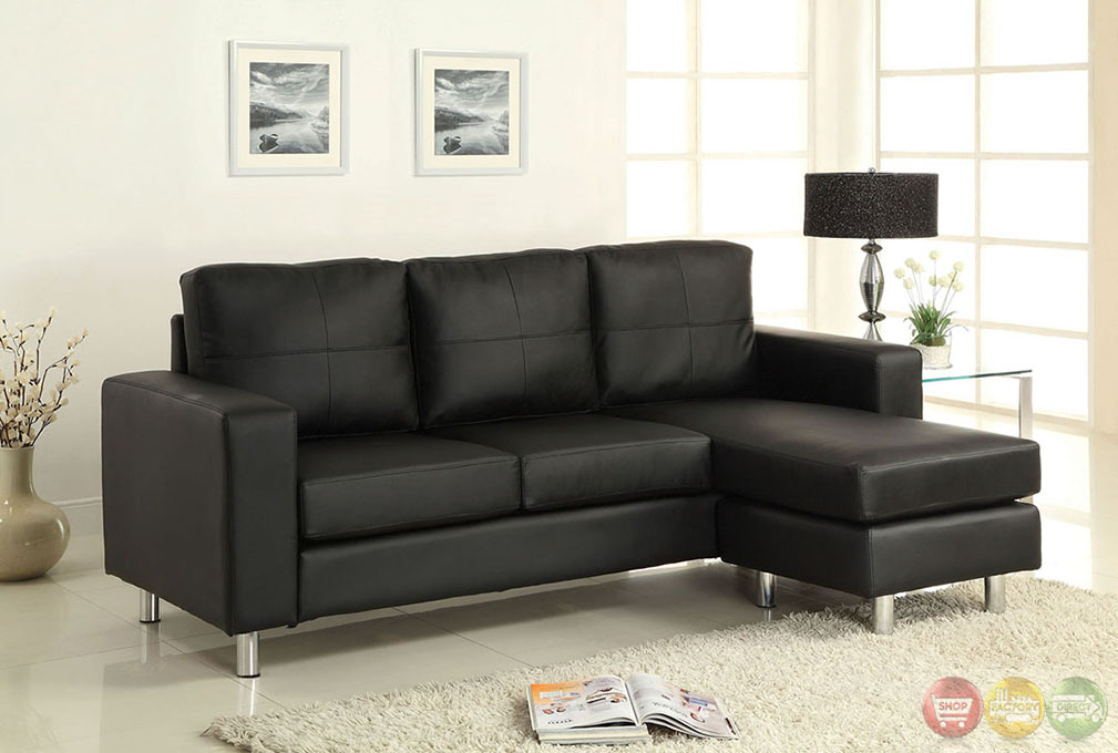 Avon contemporary black sofa set with ottoman cm2122bk for Affordable furniture in avon