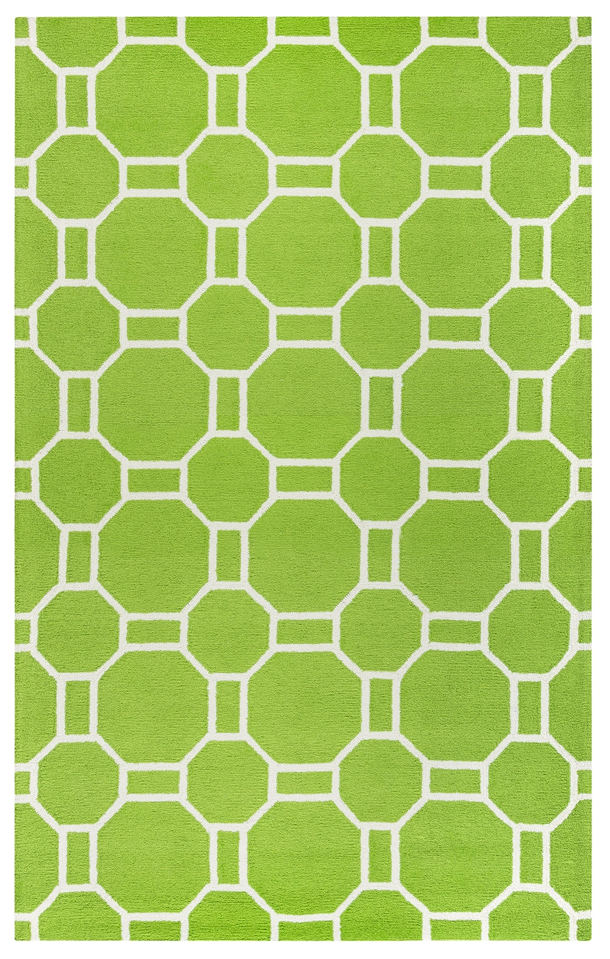 Azzura Hill Geometric Pattern Area Rug In Lime Amp Ivory 9