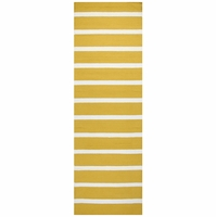 """Rizzy Azzura Hill Wool Rectangle Runner Area Rug 2'6""""x 8'Gold Ivory White Stripe"""