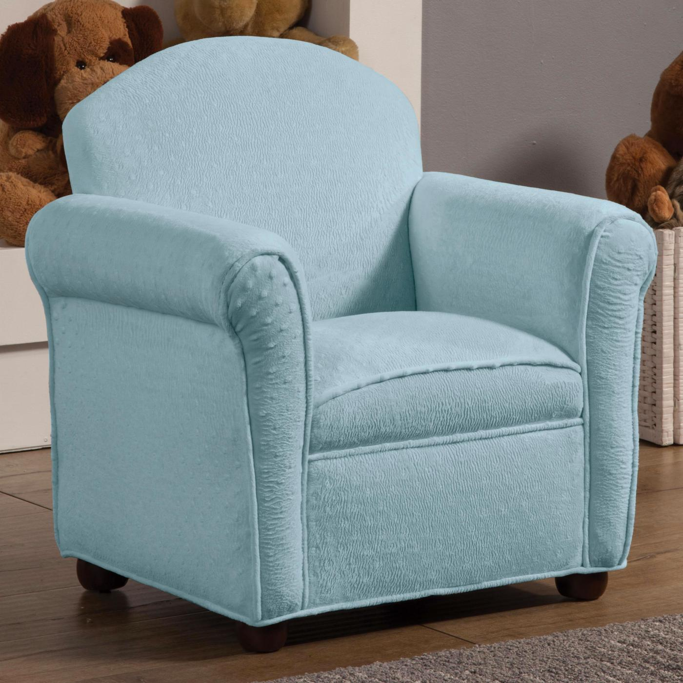 Baby Blue Fabric Upholstery Youth Accent Club Chair