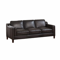 Ballari Dark Grey Sofa In Hand Rubbed Top Grain Leather