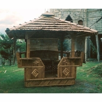 Bamboo Gazebo with Cogon Roof 6ft x 6ft Outdoor Tiki - 2203 6