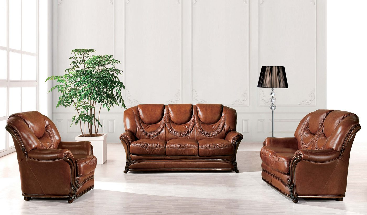 Barletta Traditional Brown Genuine Italian Leather Sleeper