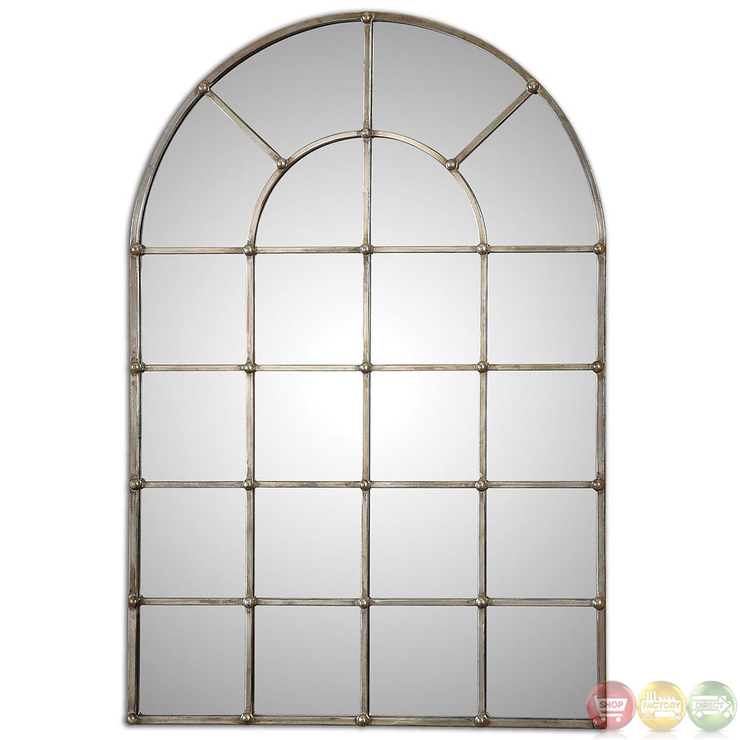 Barwell arch contemporary oxidized plated silver arch for Window mirror