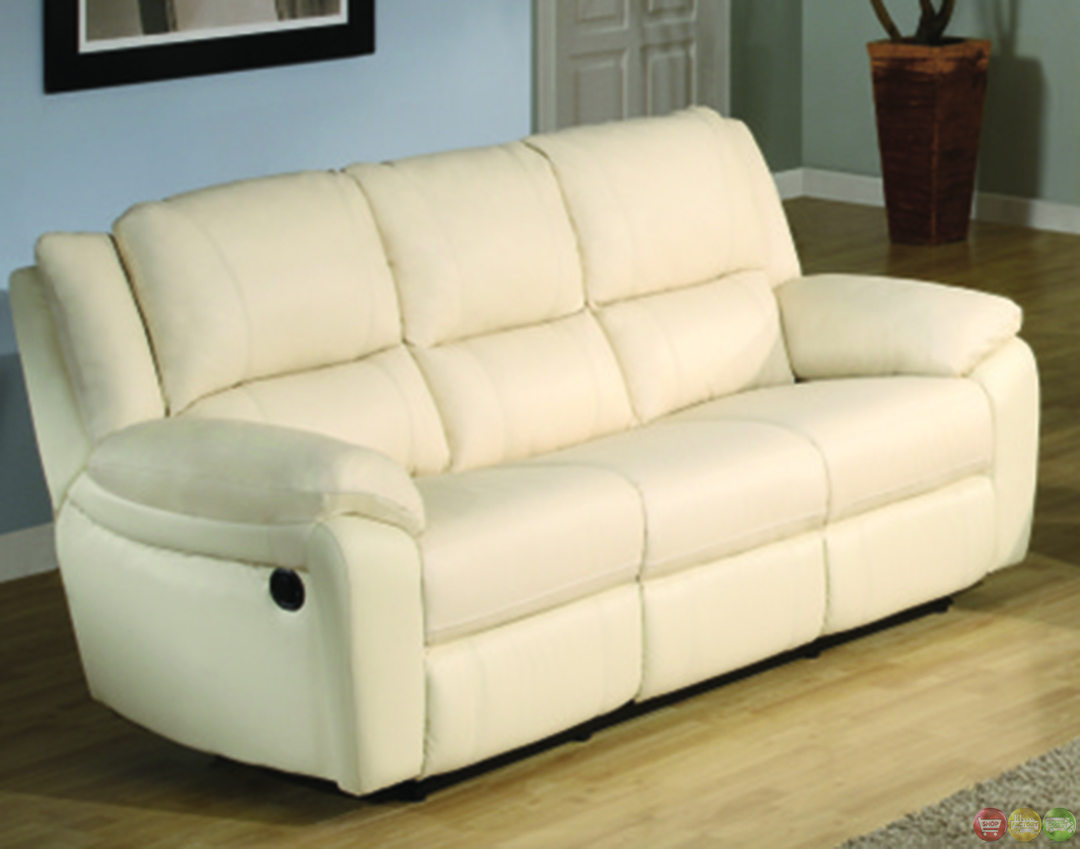 Baxtor Contemporary Faux Leather Reclining Sofa Set