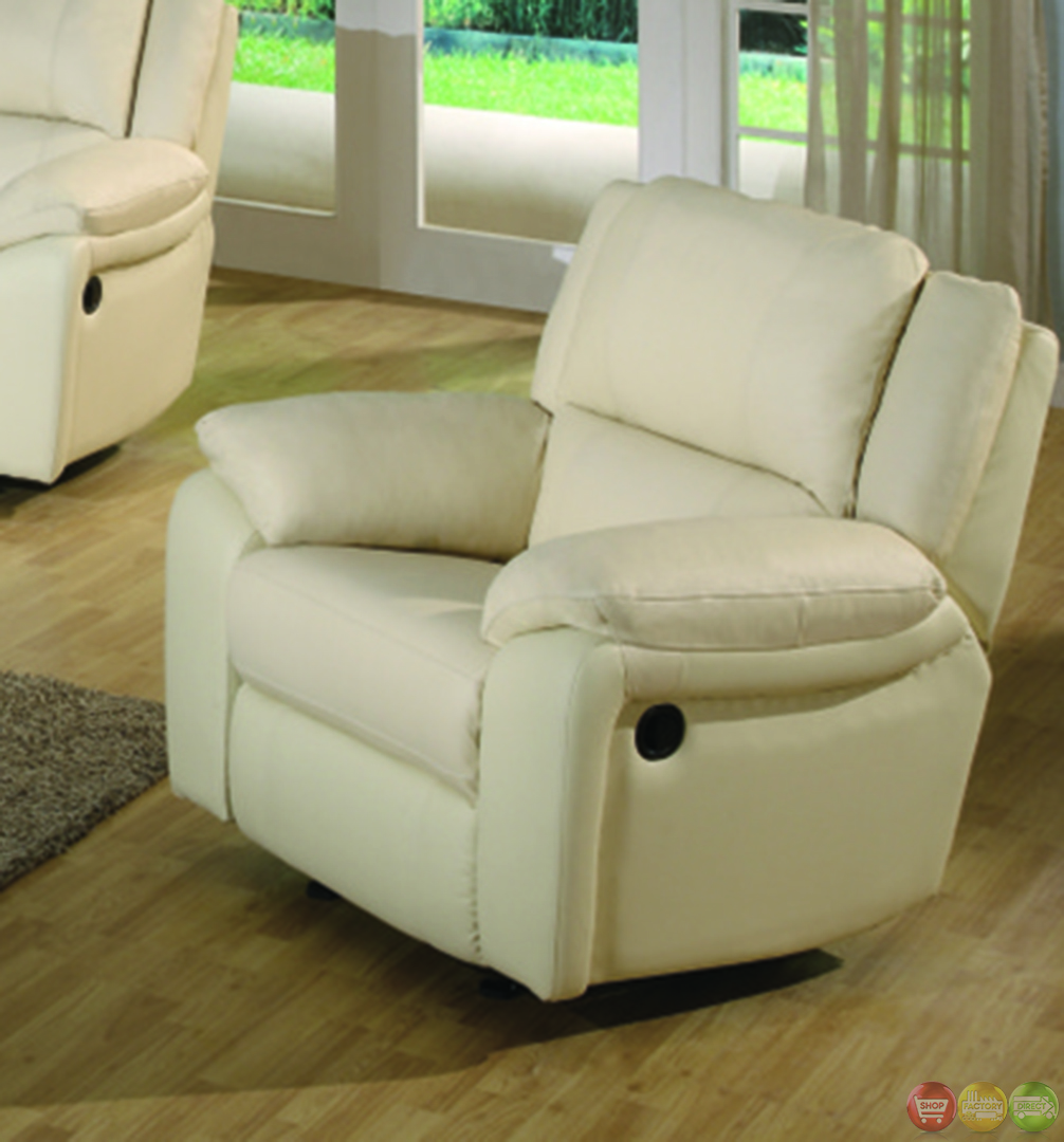 Sofa Leather Workshop: Baxtor Contemporary Faux Leather Reclining Sofa Set