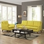 Mid-Century Modern Beguile 2pc Armchair & Loveseat Living Room Set, Sunny