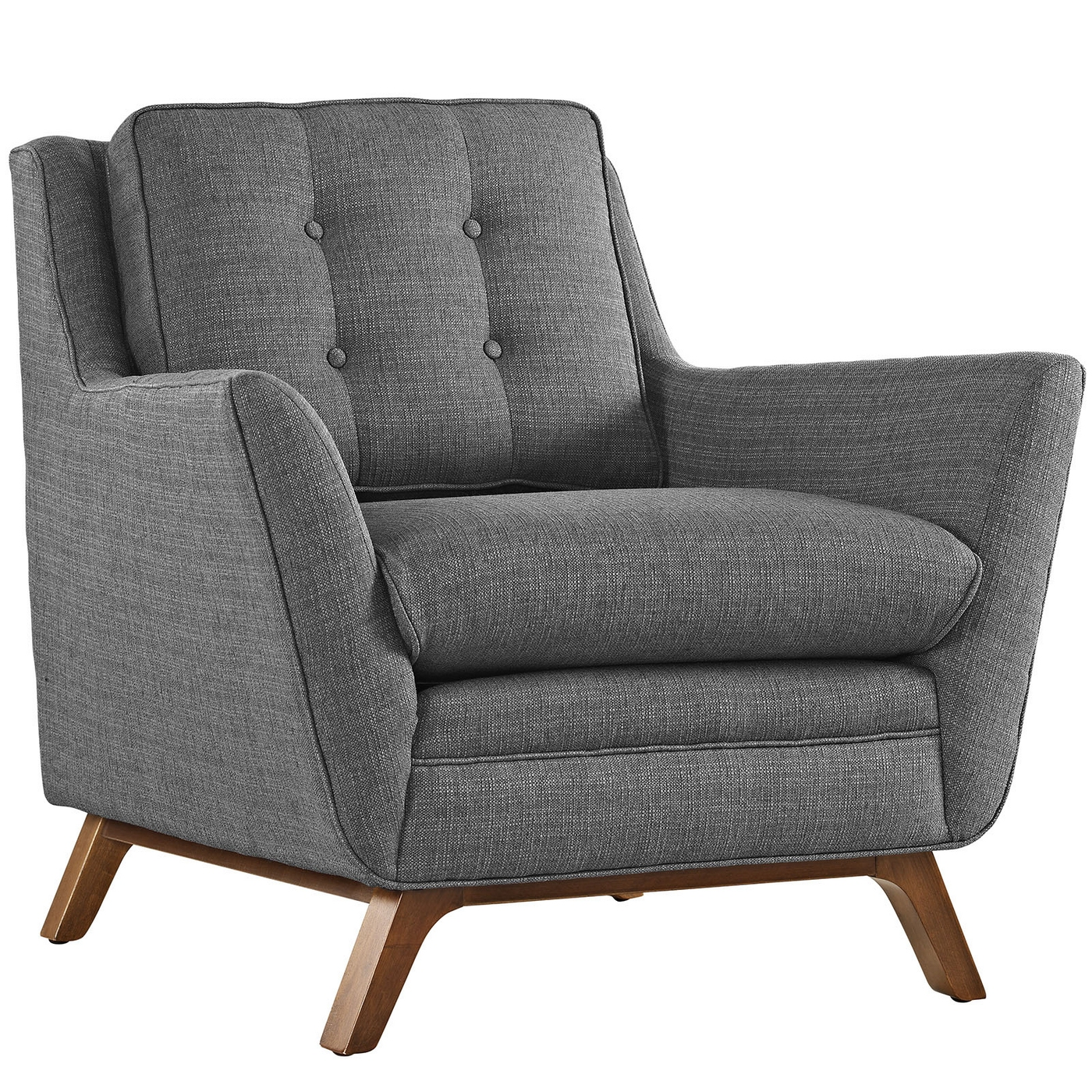 Mid Century Modern Armchairs: Mid-Century Modern Beguile Contemporary Button-Tufted
