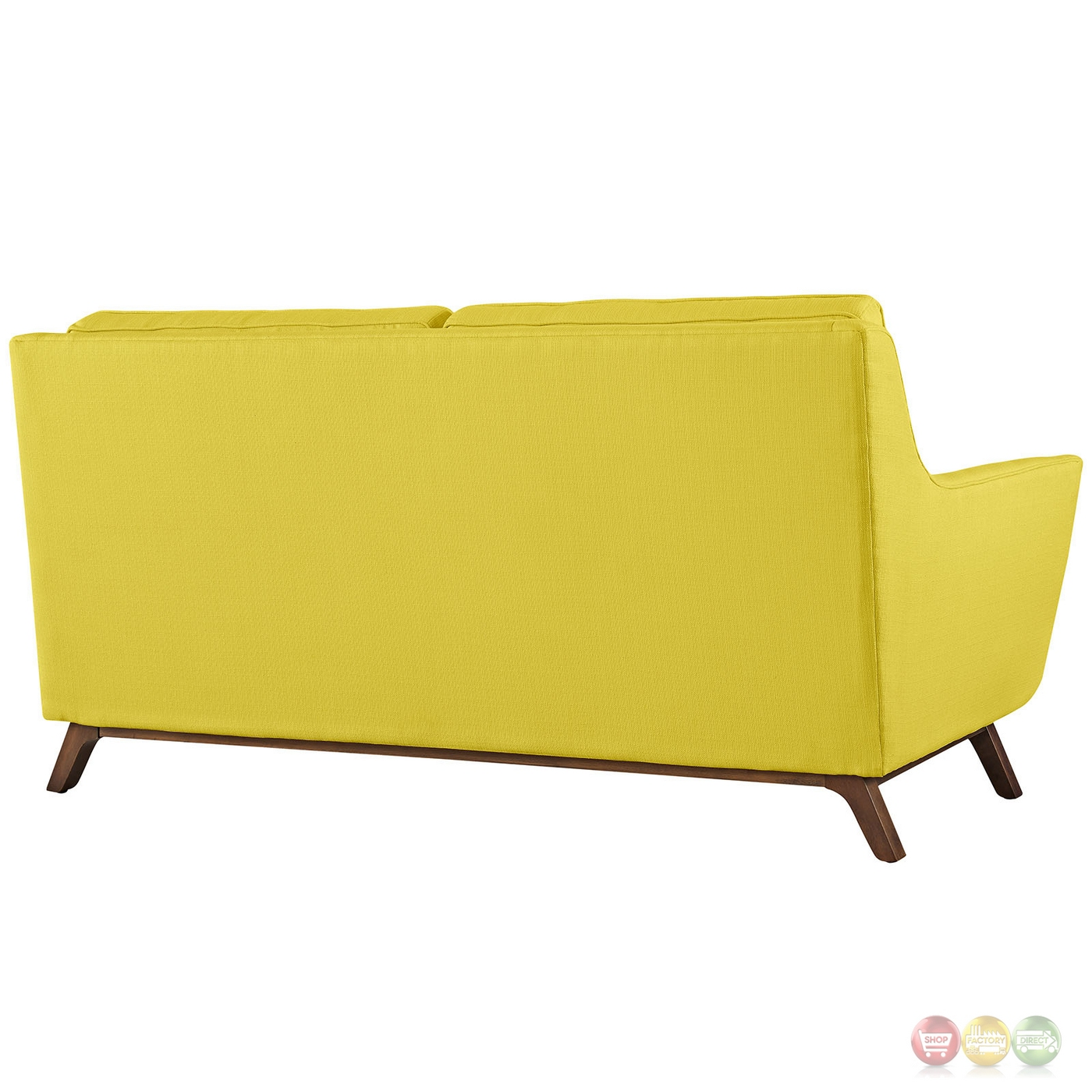 Beguile Contemporary Button Tufted Upholstered Loveseat Sunny