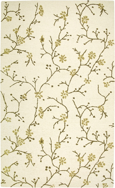 Rizzy Rugs Beige Floral Hand Tufted Area Rug Country CT1634