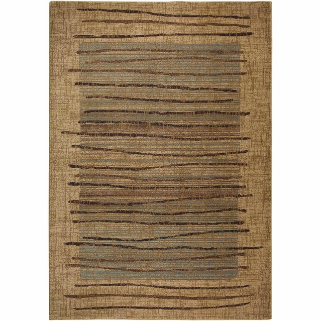 Rizzy Rugs Beige Modern Power Loomed Area Rug Bellevue BV3193