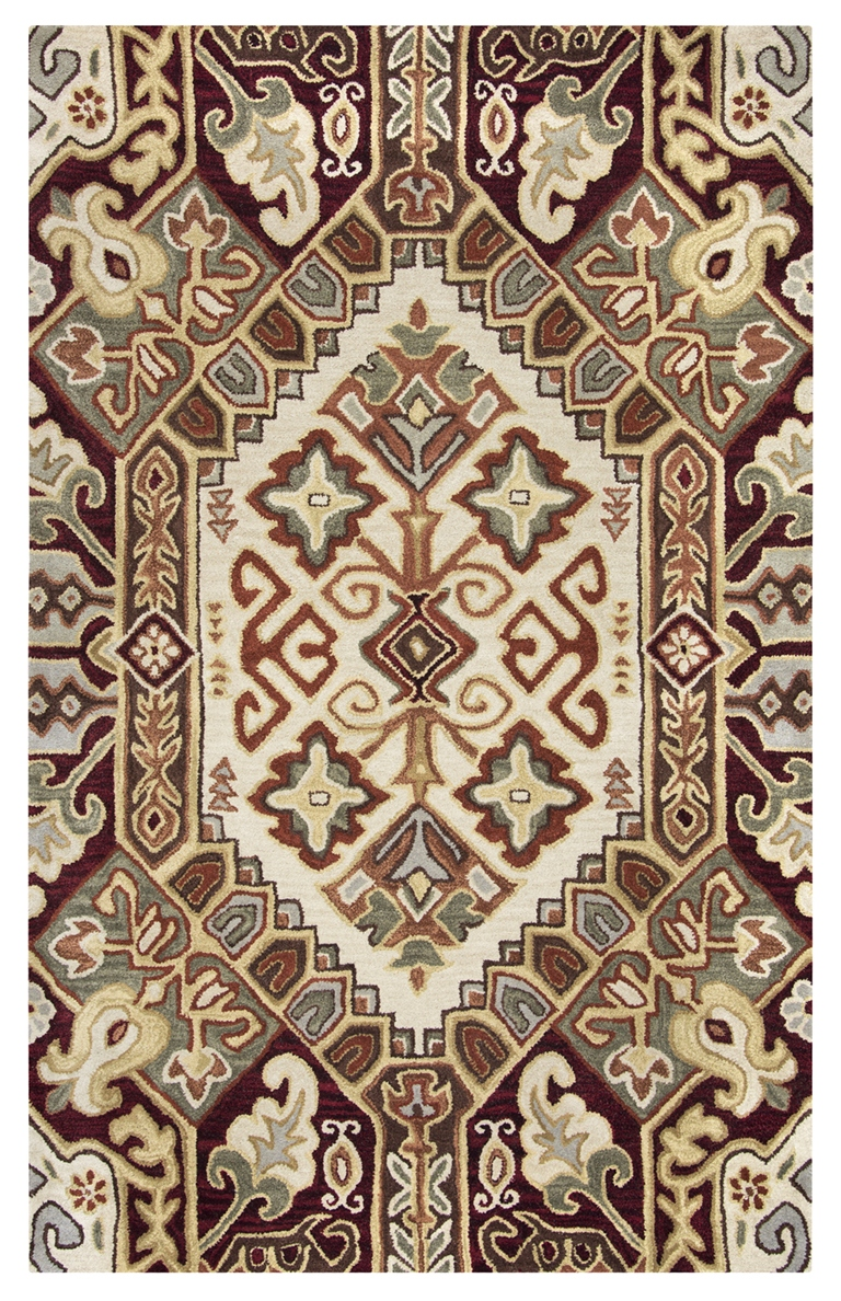 Rizzy Rugs Beige Amp Red Southwest Hand Tufted Area Rug