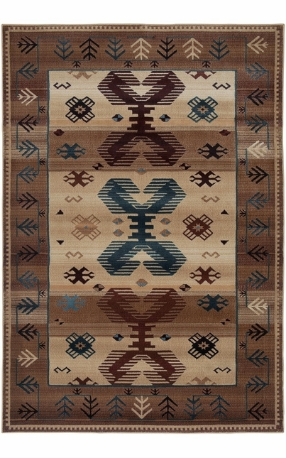 Rizzy Rugs Beige Southwest Power Loomed Area Rug Bellevue BV3705