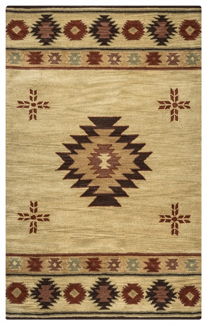 Rizzy Rugs Beige Southwest Hand Tufted Area Rug Southwest SU2007