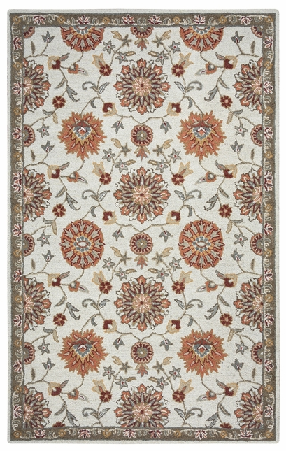Rizzy Rugs Beige Traditional Hand Tufted Area Rug Ashlyn