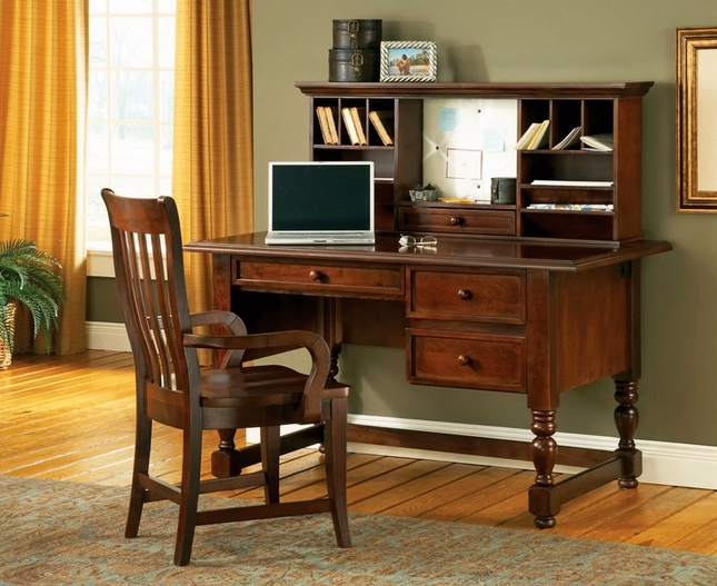Bella 54 Quot Cottage Cherry Writing Desk With Pull Out