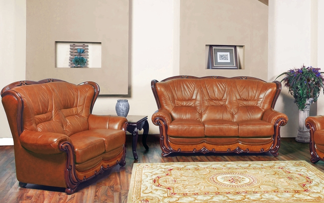 Prime Bella Brown Caramel Italian Leather Sofa Loveseat Set With Caraccident5 Cool Chair Designs And Ideas Caraccident5Info