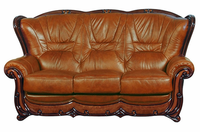 Stupendous Bella Brown Caramel Leather Italian Sofa With Cherry Accents Machost Co Dining Chair Design Ideas Machostcouk