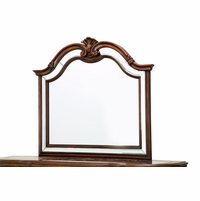 Bella Veneto Traditional Beveled Sideboard Mirror with Cognac Finish