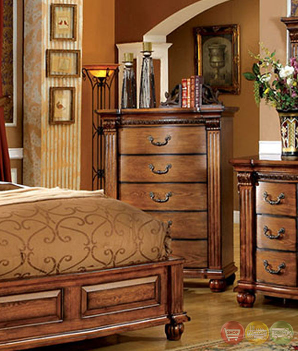 Oak bedroom sets king bed sizes shop factory direct - Bedroom sets with drawers under bed ...