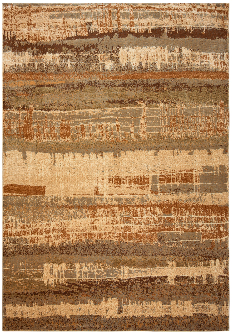 Bellevue Abstract Banded Area Rug In Tan Amp Gray 9 2 Quot X 12 6 Quot