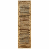"""Rizzy Bellevue Soft Loom Runner Area Rug 2'3 x 7'7""""Beige Brown Blue Red Abstract"""