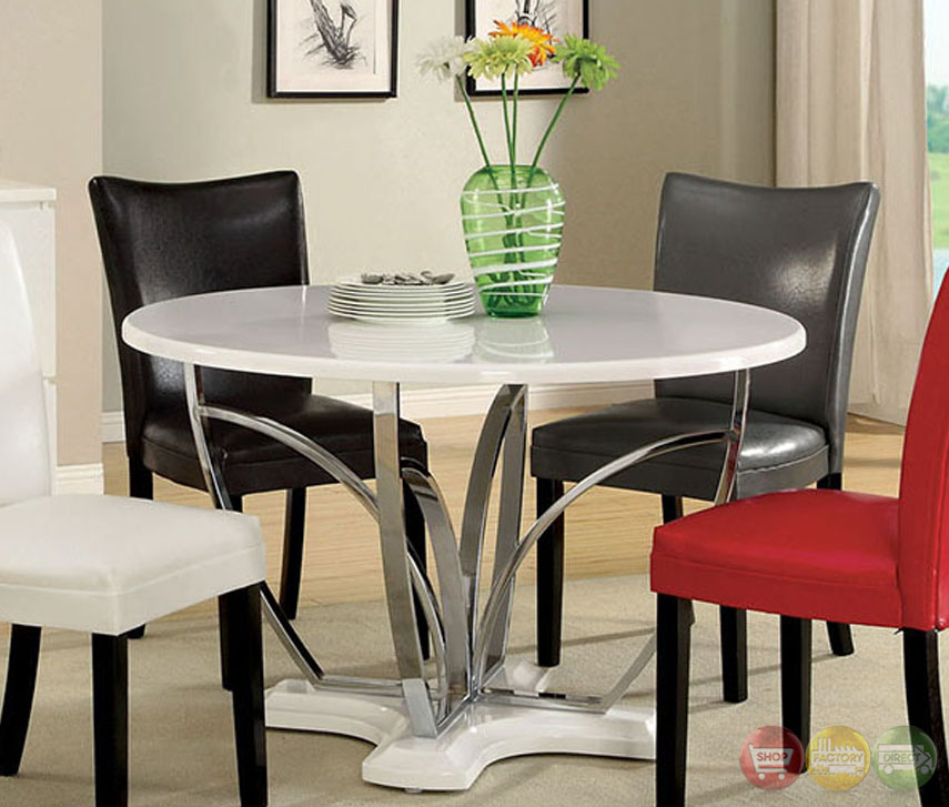 Belliz contemporary white lacquer table casual dining set for White casual dining table
