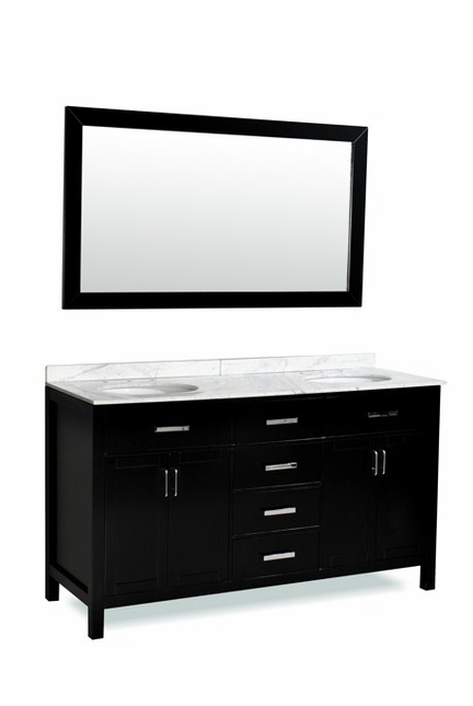 "Belmont Decor ""Hampton"" Double Sink Vanity DM2D4-60"