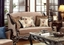Belvedere Chenille Antique Style Sofa & Loveseat Set In Ebony And Gold