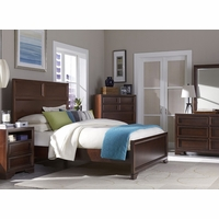 Benchmark Root Beer Finish Transitional Panel Queen Youth Bed