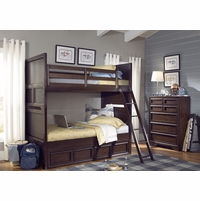 Benchmark Root Beer Finish Twin over Full Youth Bunk Bed