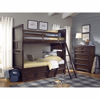 Benchmark Root Beer Finish Twin over Twin Youth Bunk Bed