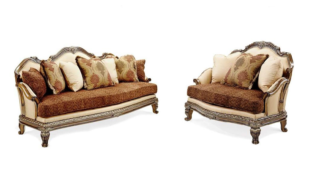 Camelia Traditional Antique Style Hand Carved Luxury Sofa Set