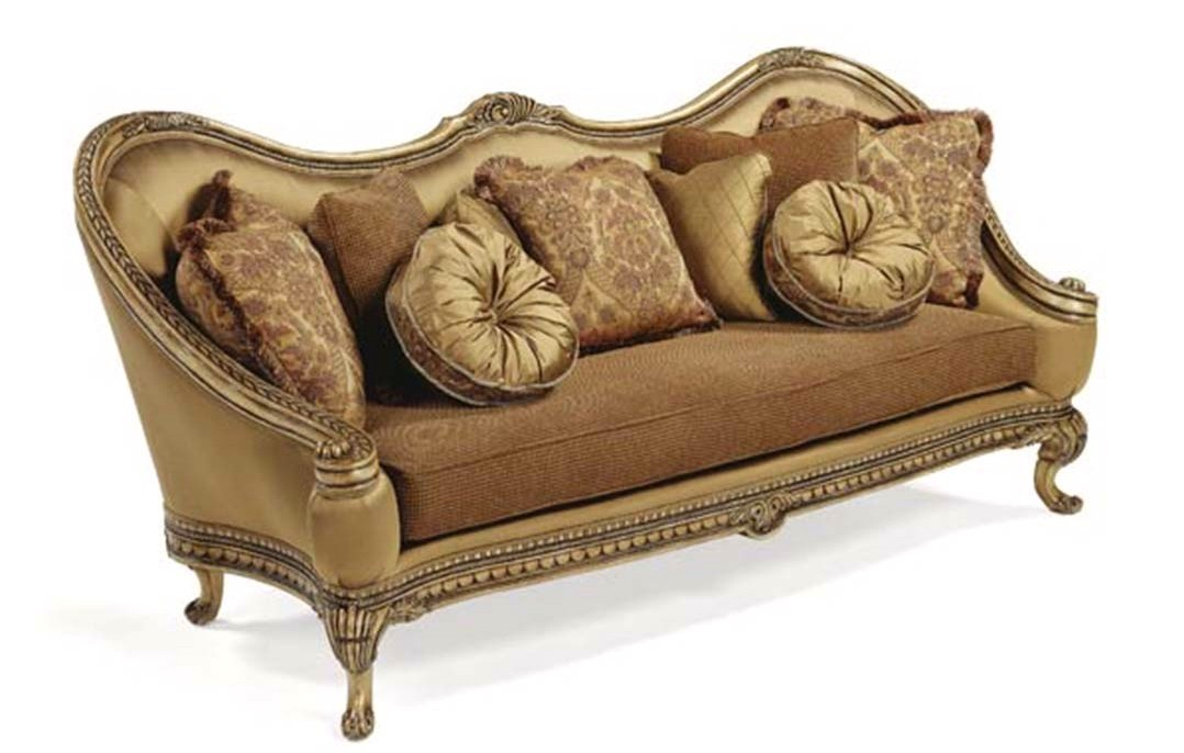 Maribella luxury hand carved solid wood frame formal sofa for Formal sofa sets