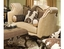 Salermo Rolled Arm Chenille Upholstered Formal Sofa Set
