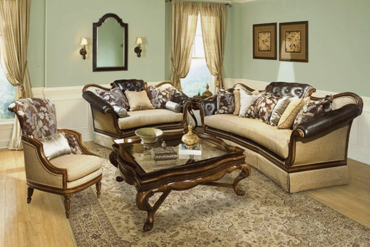 salvatore antique style button tufted living room sofa set. Black Bedroom Furniture Sets. Home Design Ideas