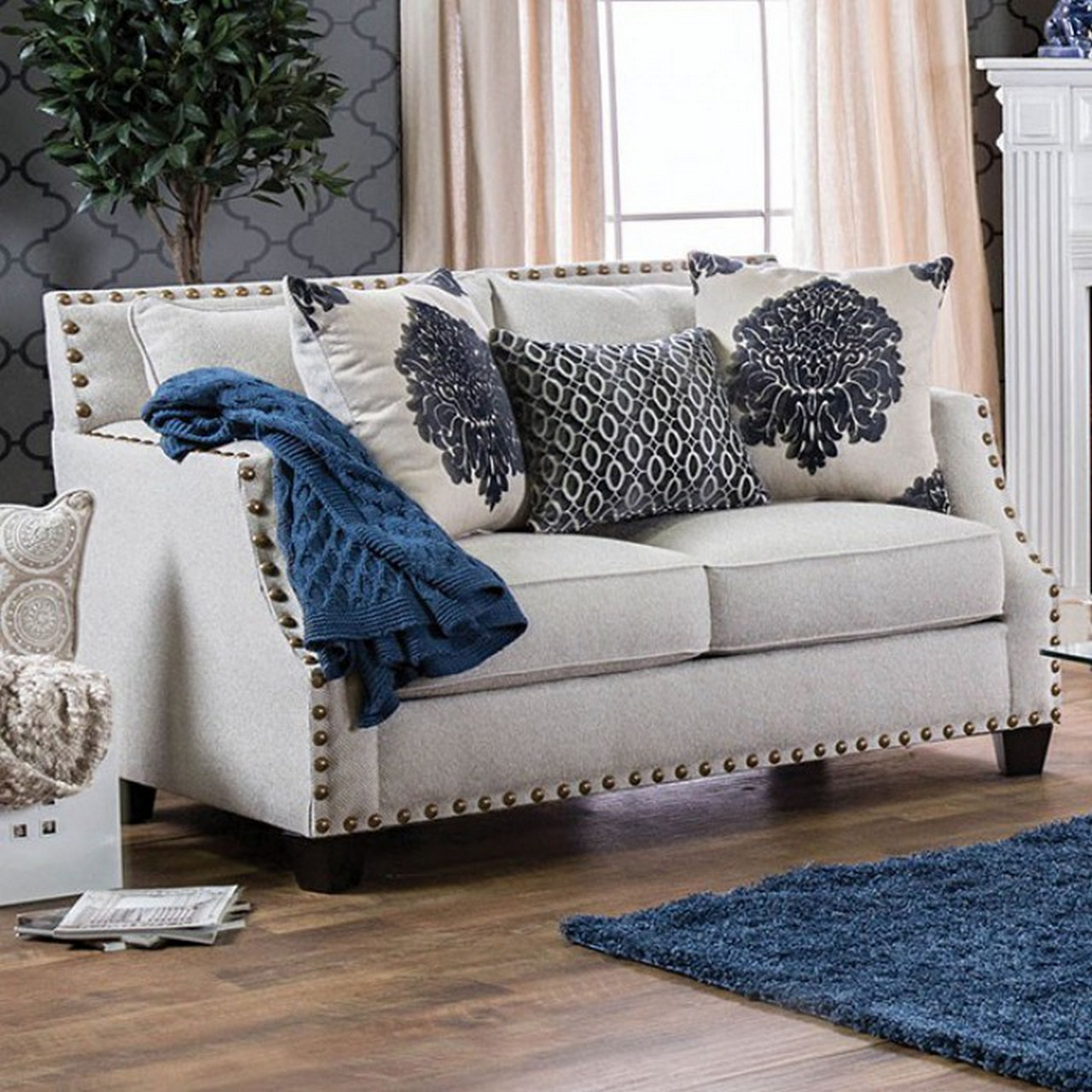 Simmons Leather Sofa And Loveseat