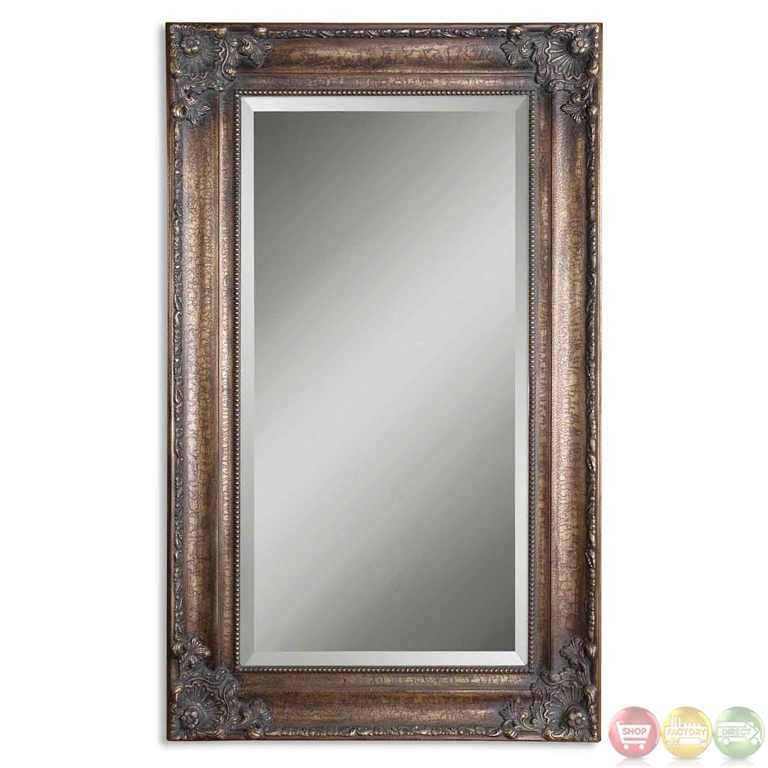 Bertha Traditional Large Bronze Rectangular Mirror 14145 B