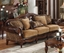 Dreena Traditional Formal Living Room Set Carved Cherry Wood Frames