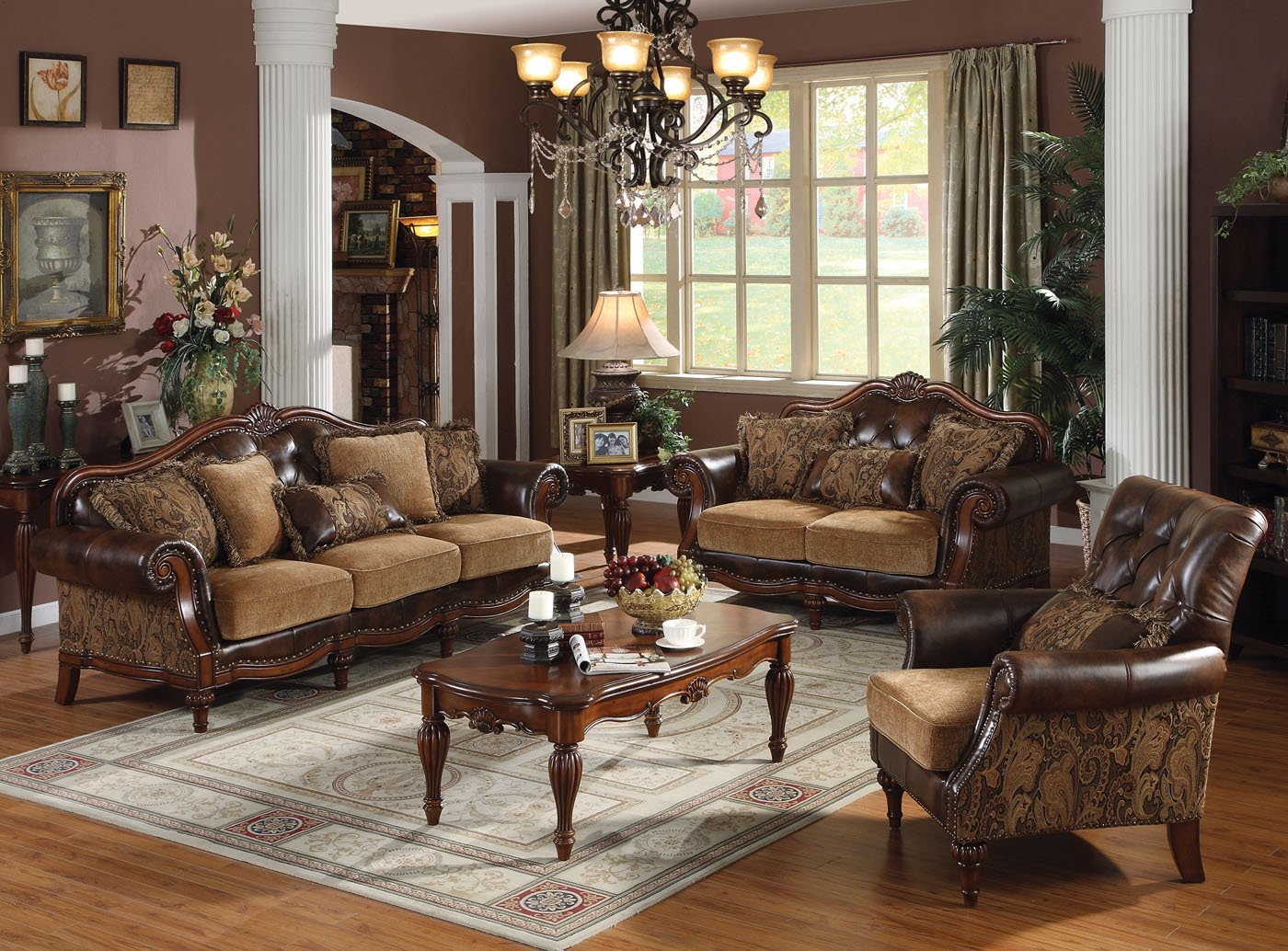 traditional living room sets cherry wood living room furniture formal living room set 12029