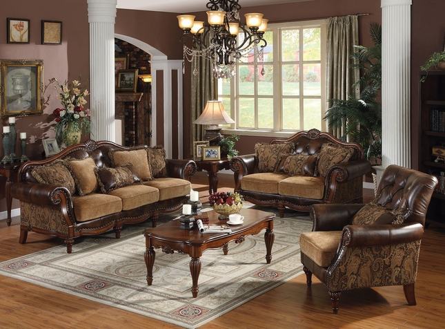 Cherry Wood Living Room Furniture | Formal Living Room Set