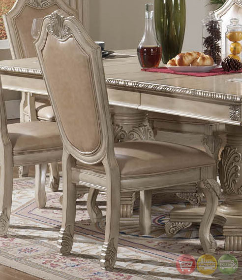 Dining Set With Buffet: Betty Antique Traditional Light Wood Formal Dining Set