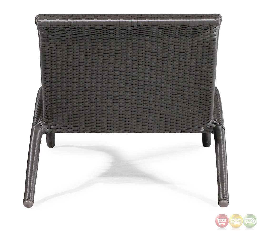 Biarritz espresso chaise lounge zuo modern 701120 modern for Chaise coffre