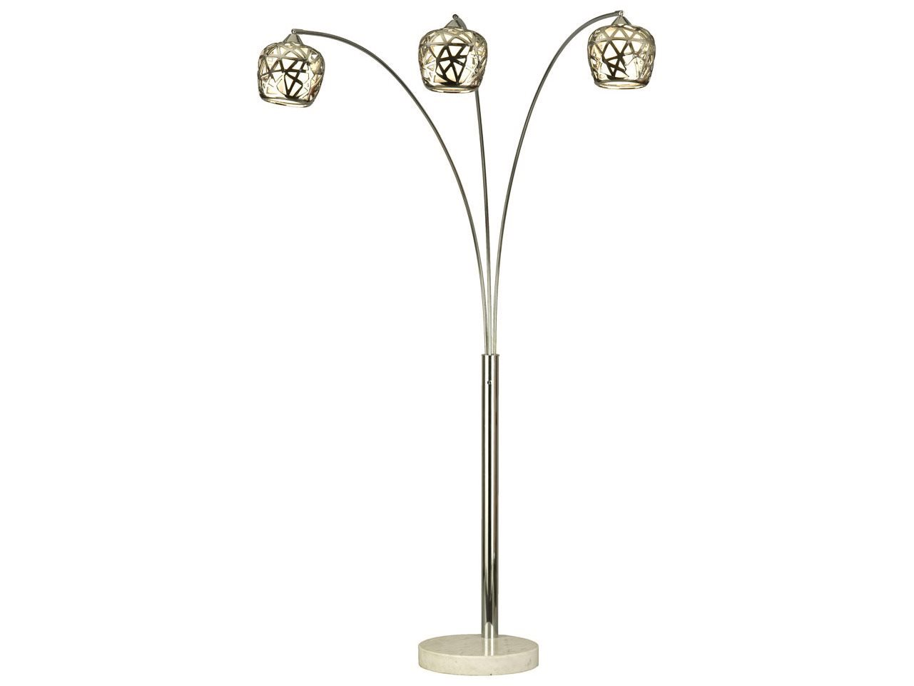 Birds nest white marble arc contemporary floor lamp 12605 for White floor lamp with birds