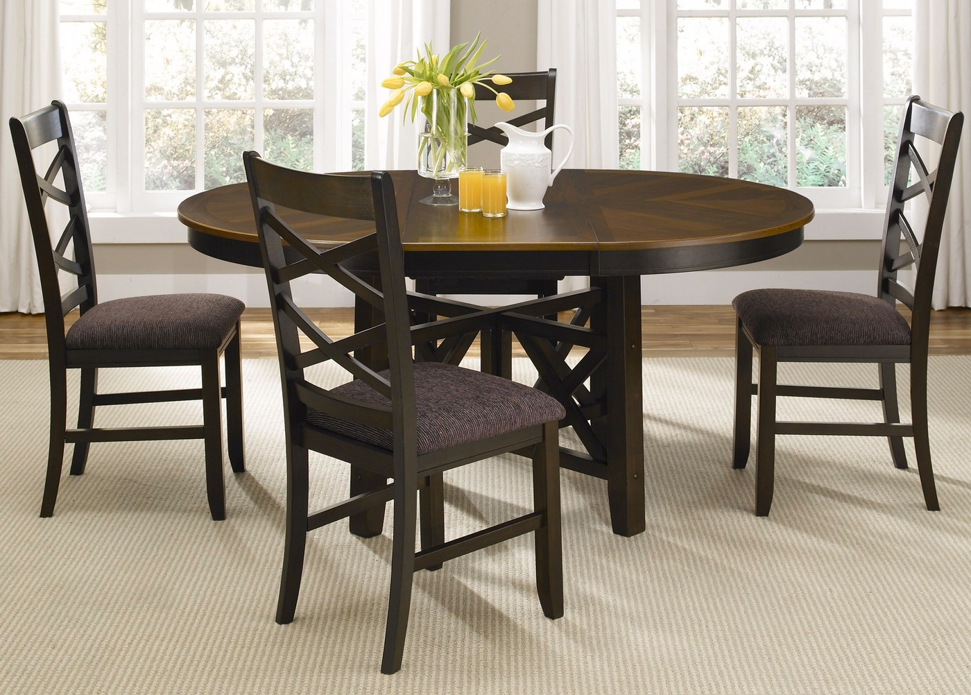 small dining room tables bistro two tone oval casual dining furniture set 29230