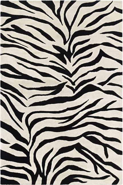 Rizzy Rugs Black Animal Print Hand Tufted Area Rug Craft CF0783