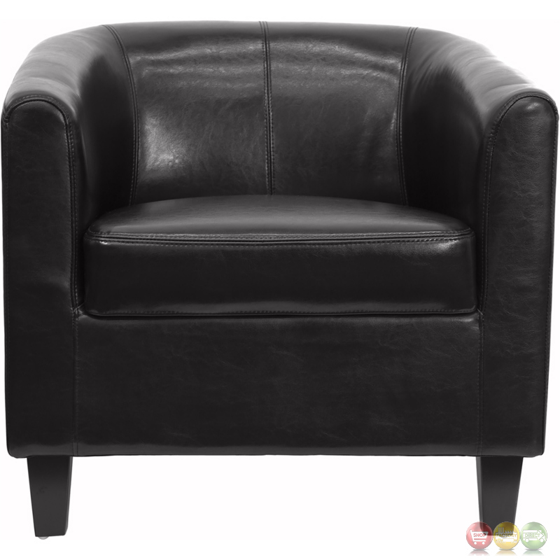 Office Guest Room Ideas: Black Leather Office Guest Chair / Reception Chair