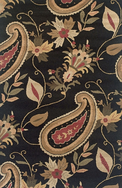 Rizzy Rugs Black Paisley Hand Tufted Area Rug Destiny DT0920