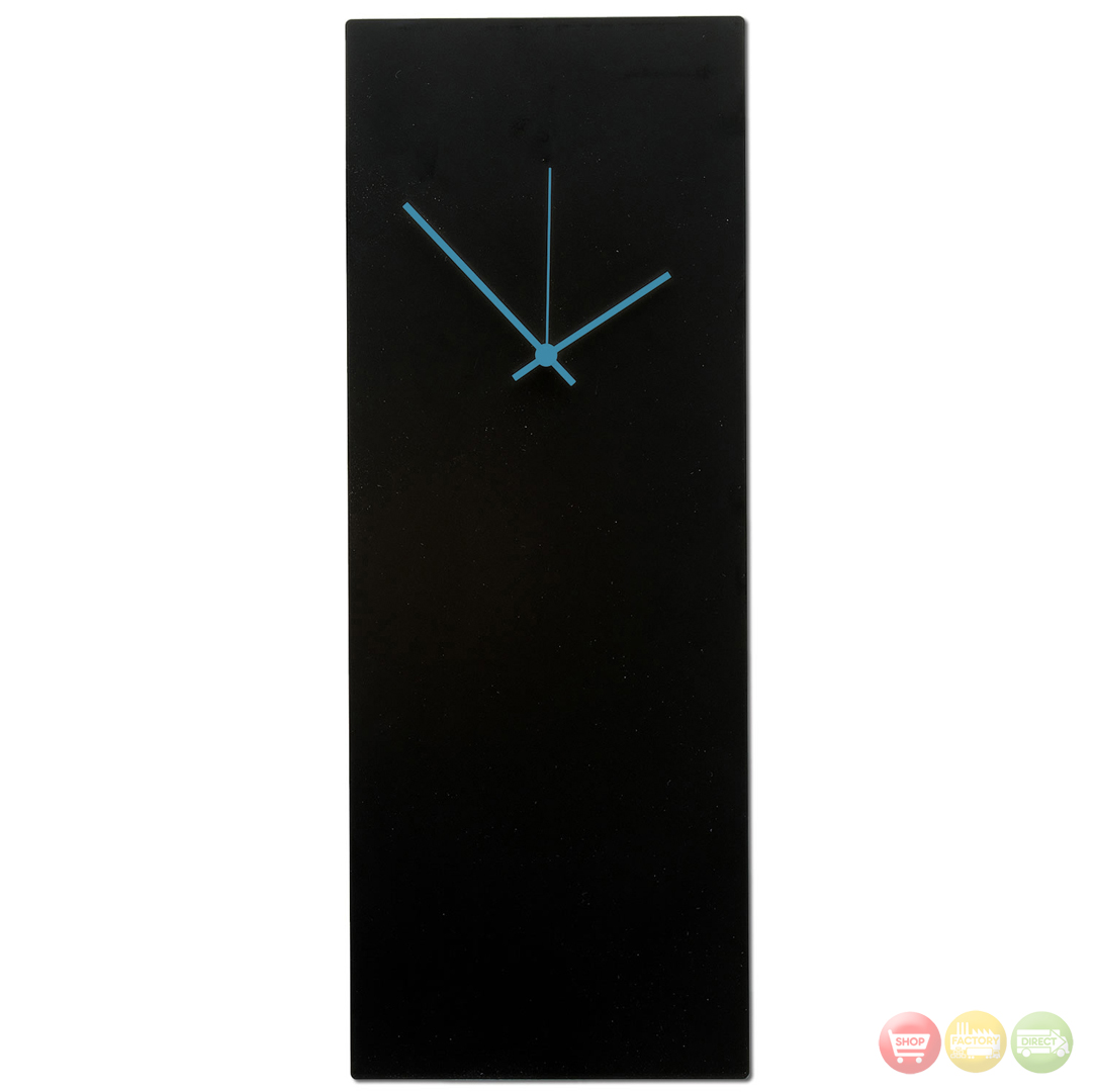 Blackout blue wall clock minimalist modern clock l0183 for Minimalist wall